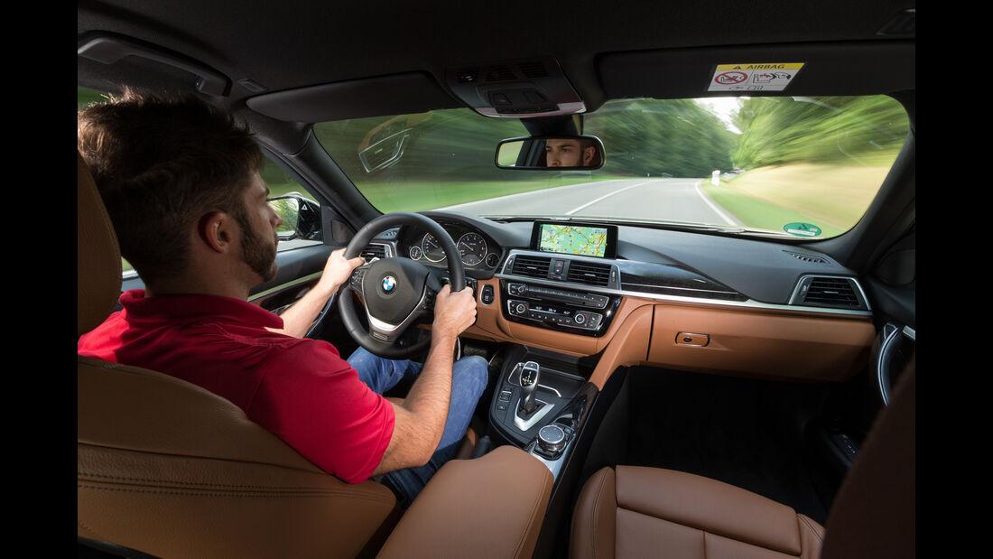 BMW 320d, Cockpit, Fahrersicht