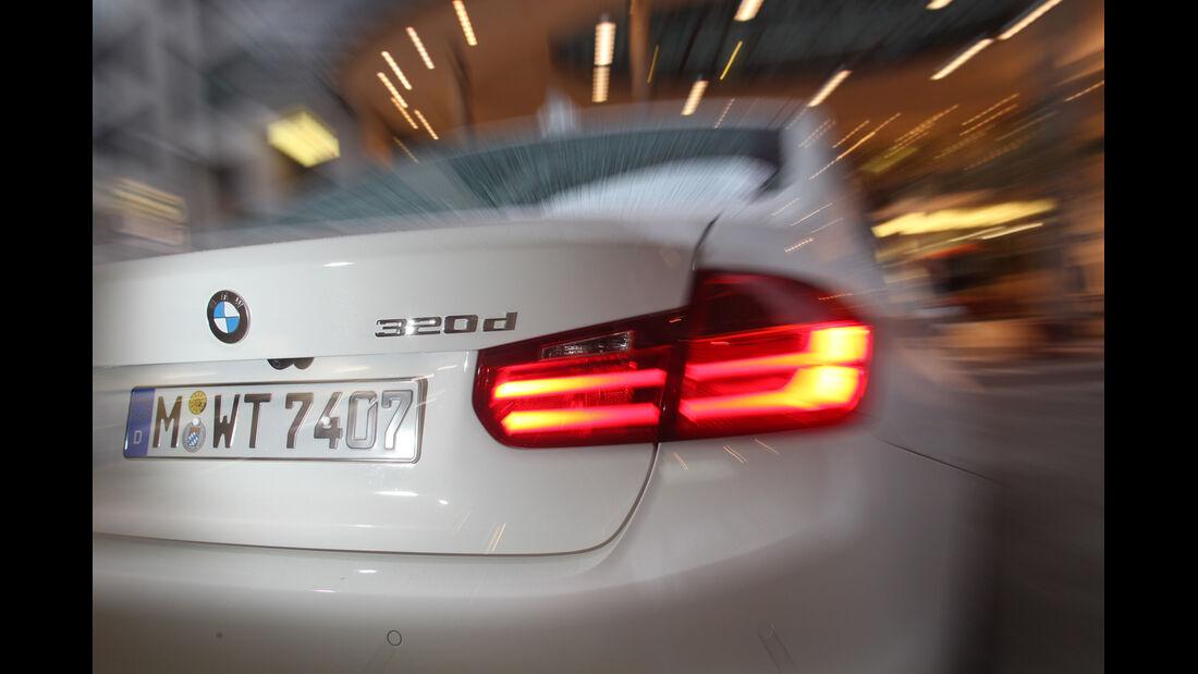 BMW 320d Efficient Dynamics Edition, Heckleuchte, Heck