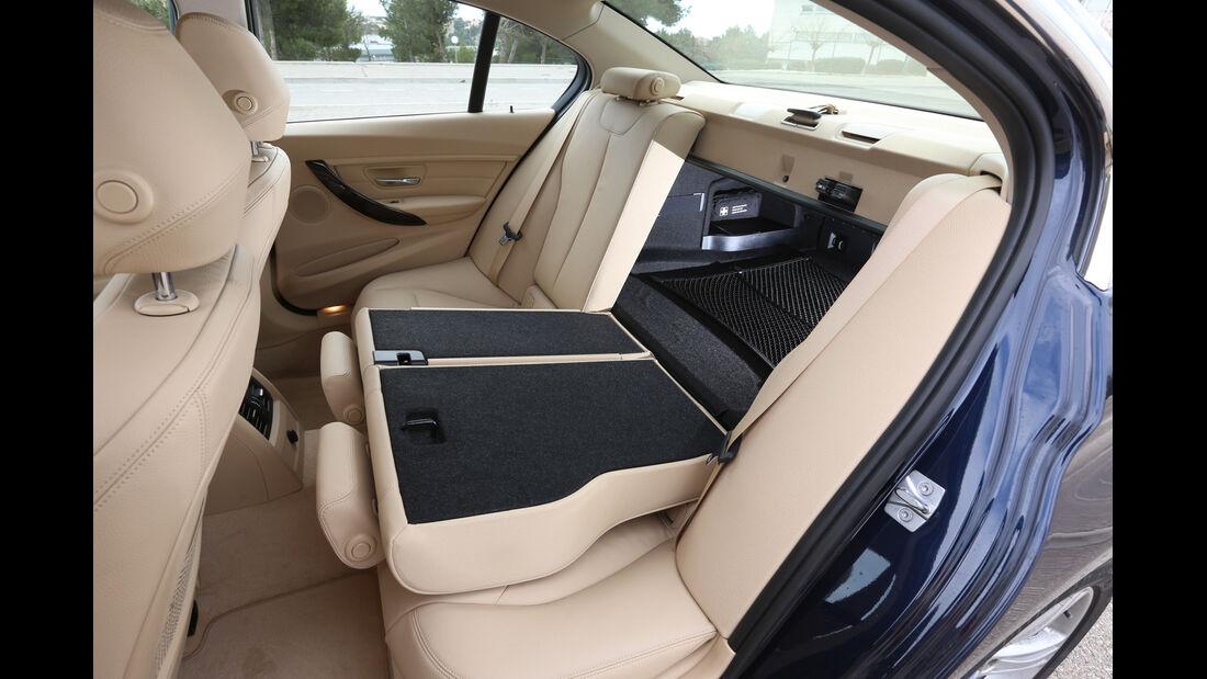 BMW 320d, Fondsitz, Umklappen, Durchreiche