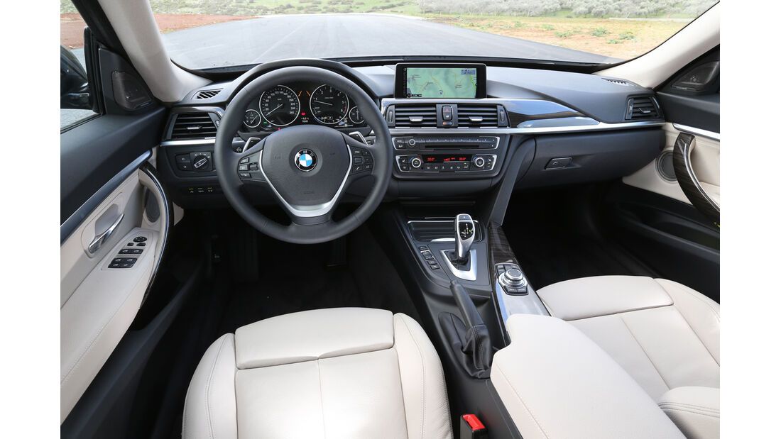 BMW 320d GT, Cockpit, Lenkrad