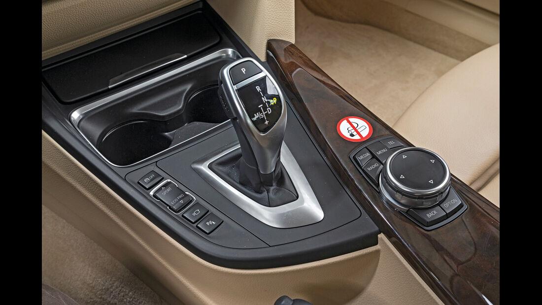BMW 320d GT xDrive, Schalthebel, Mittelkonsole