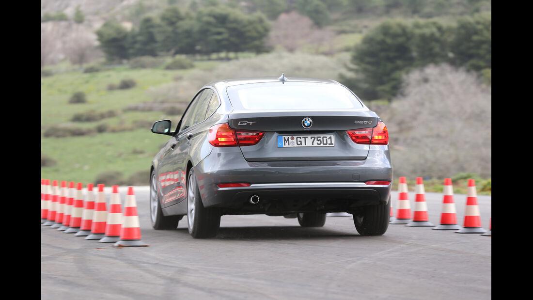 BMW 320d Gran Turismo, Heckansicht, Bremstest