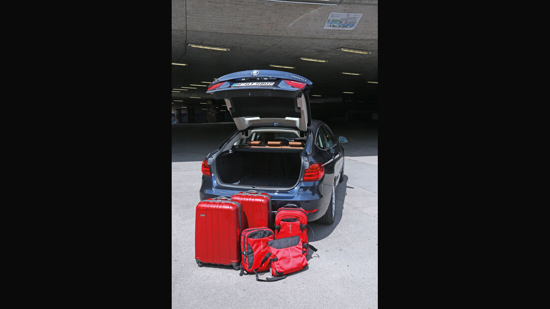 BMW 320d Gran Turismo, Kofferraum
