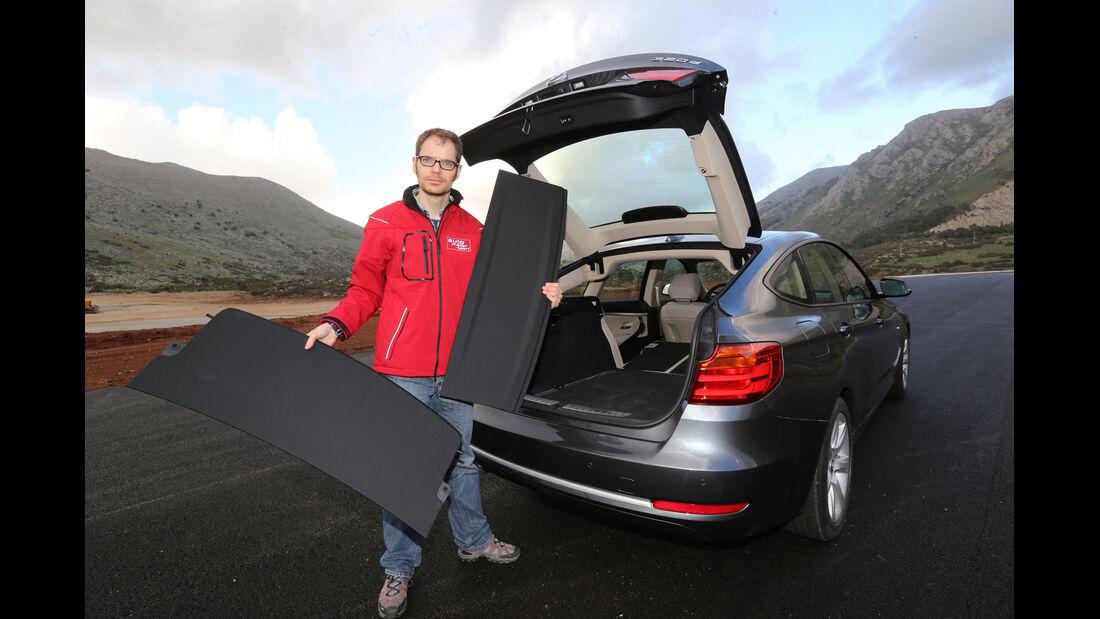BMW 320d Gran Turismo, Kofferraum, Ladenabdeckungen
