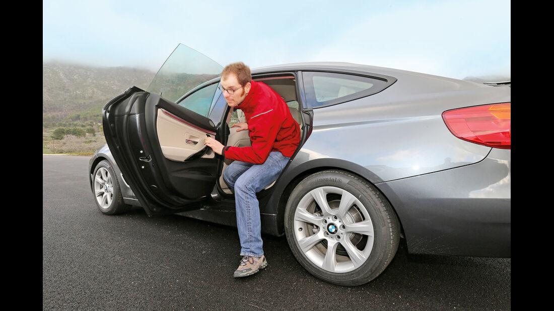 BMW 320d Gran Turismo, Rücksitz, Aussteigen
