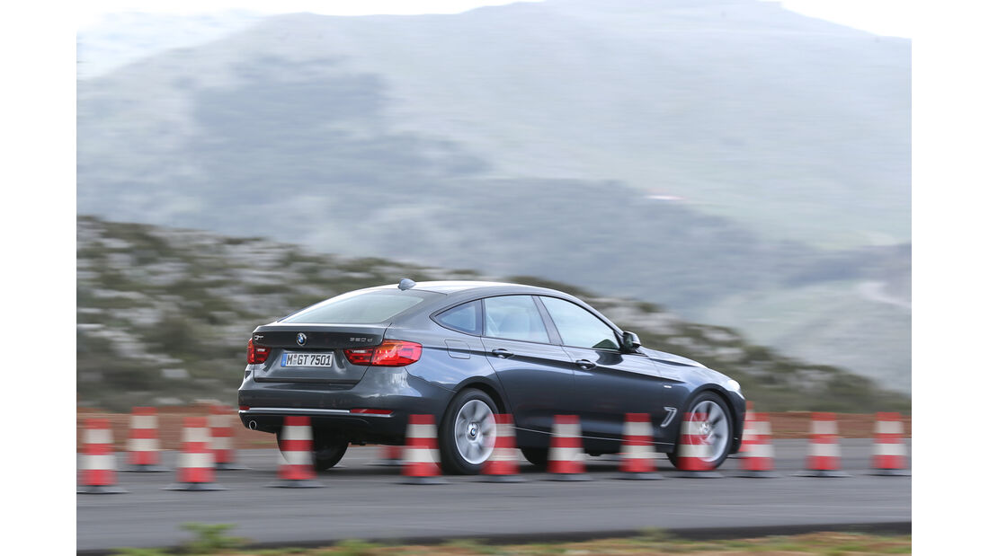 BMW 320d Gran Turismo, Seitenansicht, Bremstest
