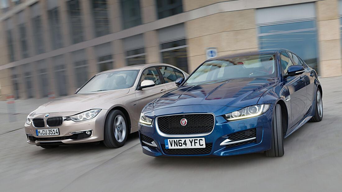 BMW 320d, Jaguar XE 20d, Frontansicht