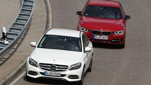 BMW 320d, Mercedes C 220 Bluetec, Frontansicht