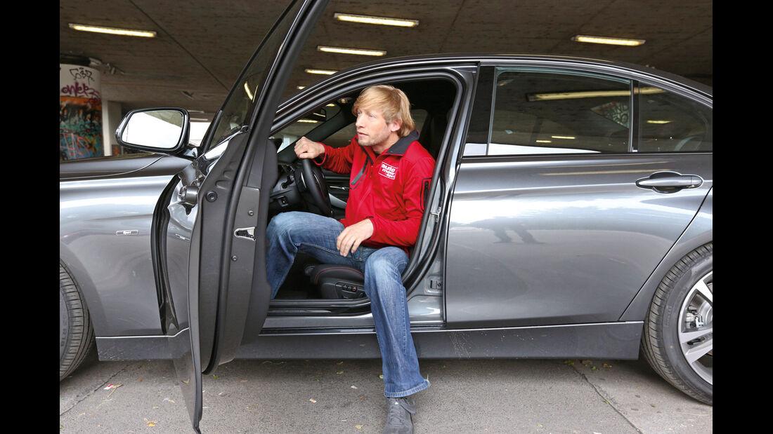 BMW 320d, Seitentür, Aussteigen