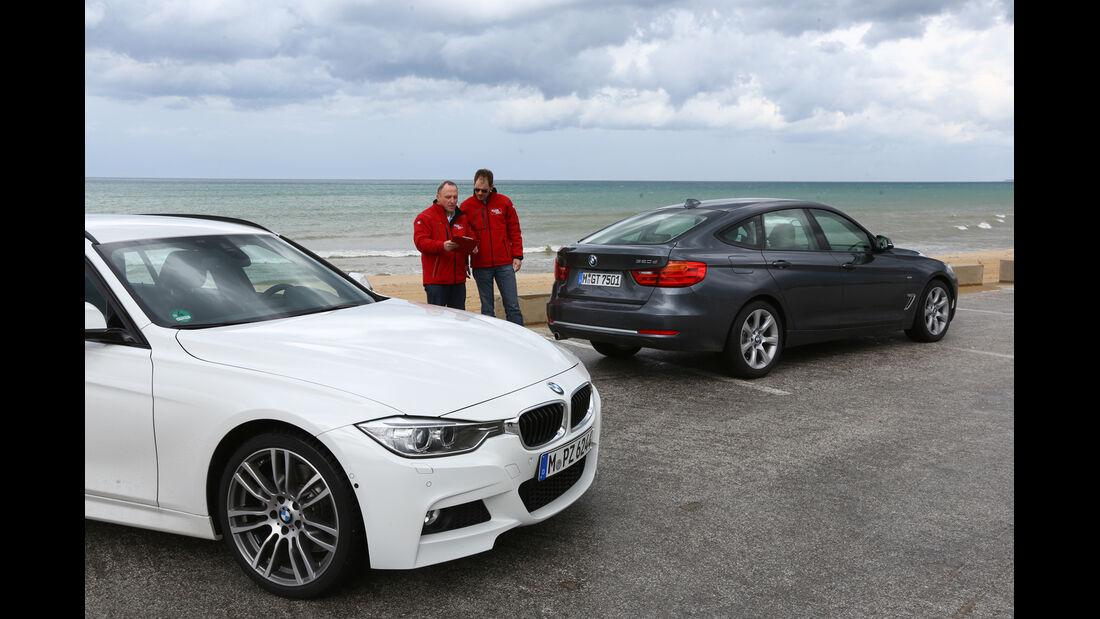 BMW 320d Touring, BMW 320d GT, Seitenansicht