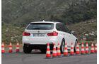BMW 320d Touring, Heckansicht, Bremstest