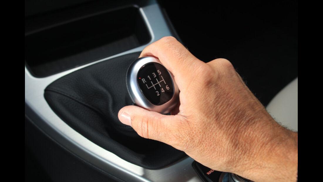 BMW 320d Touring, Schaltknauf