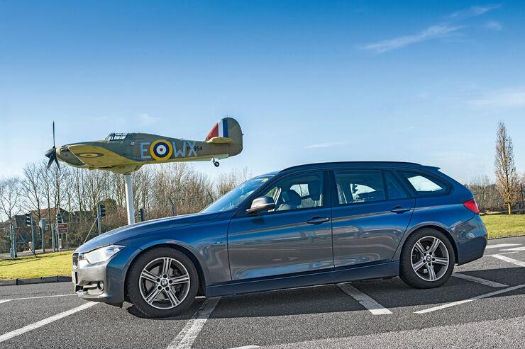 BMW 320d Touring, Seitenansicht