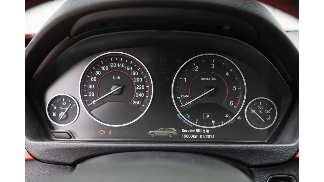 BMW 320d Touring Sportline, Rundinstrumente