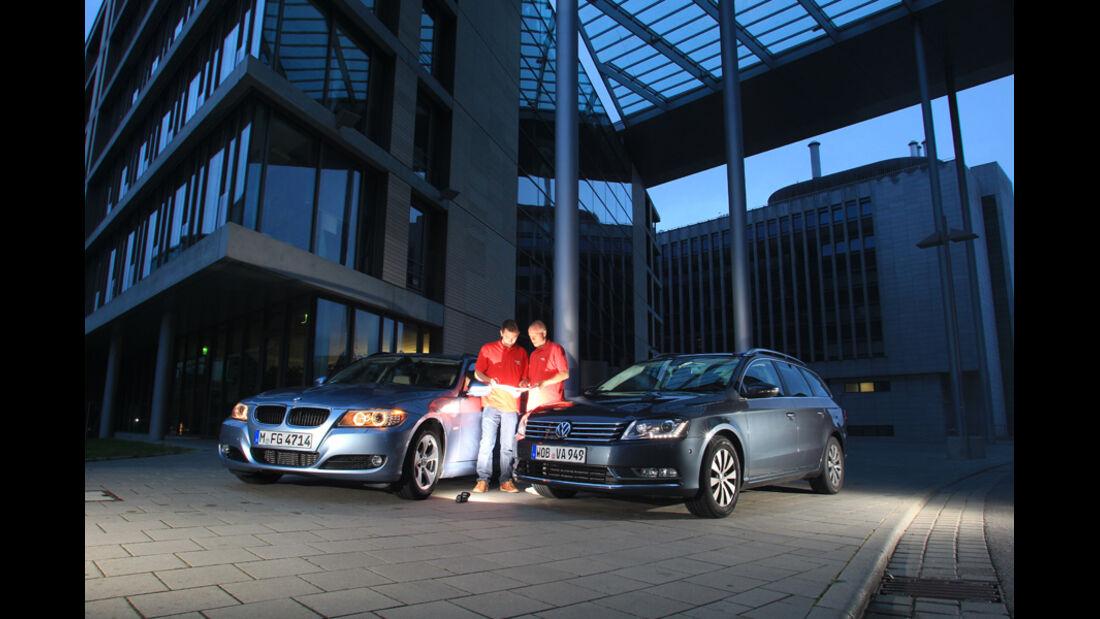 BMW 320d Touring, VW Passat 2.0 TDI Variant