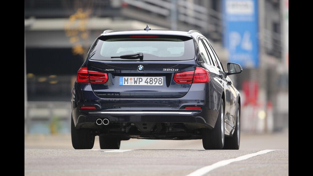 BMW 320d Touring xDrive, Heckansicht