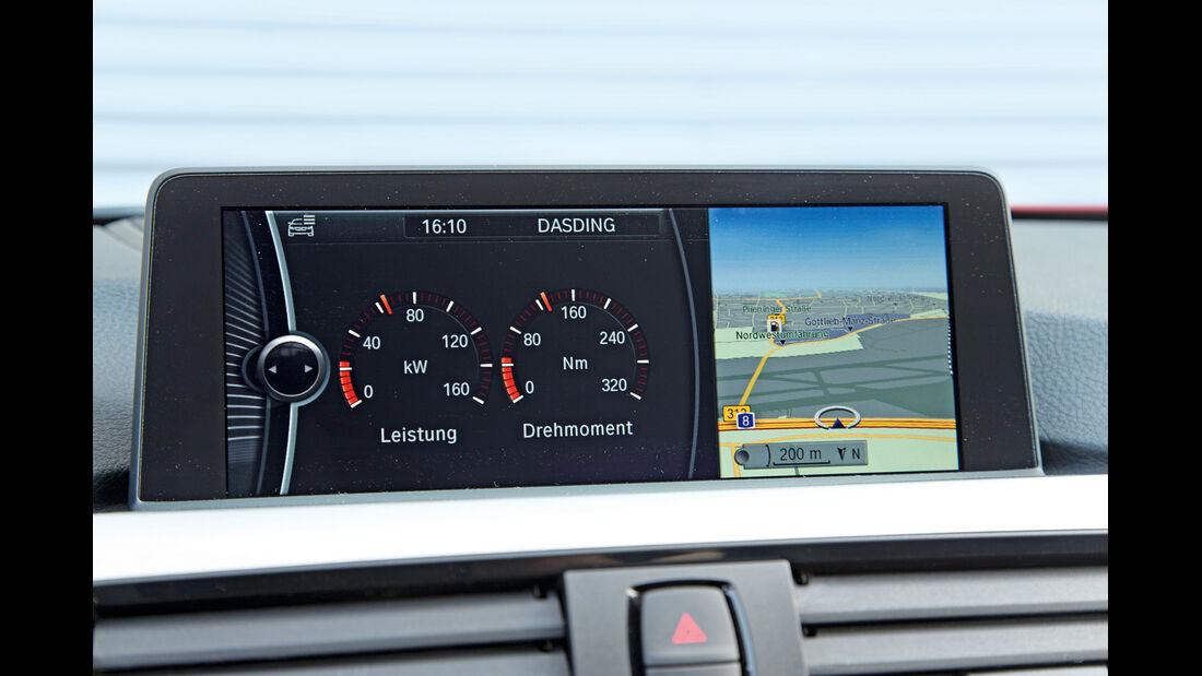 BMW 320i, Bildschirm