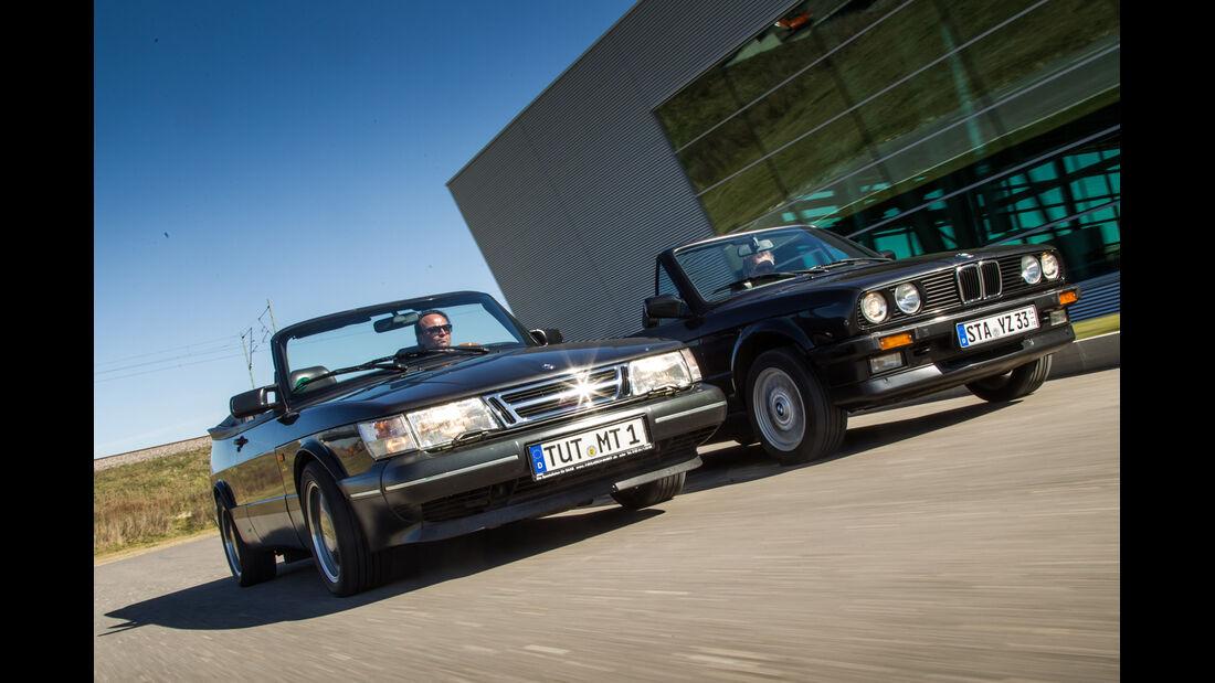 BMW 320i Cabrio, Saab 900 S Cabrio, Frontansicht
