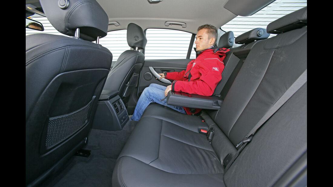 BMW 320i Efficient Dynamics Edition, Rücksitz, Beinfrteiheit