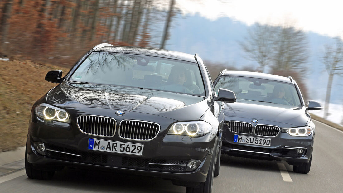 BMW 320i Touring, BMW 520i Touring, Frontansicht