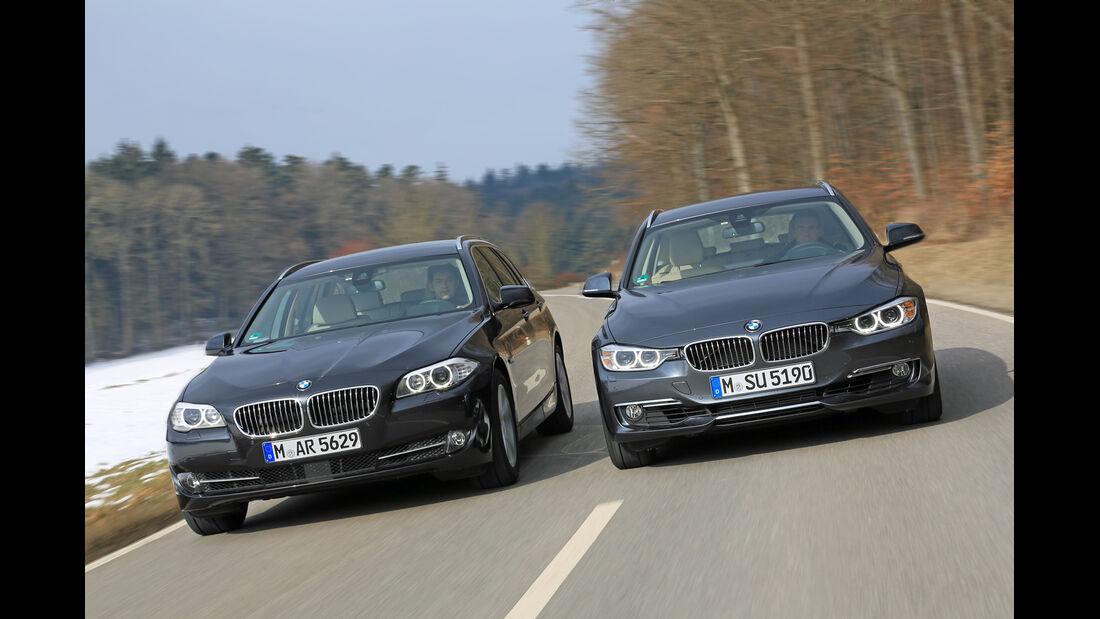 BMW 320i Touring, BMW 520i Touring, Frontansicht