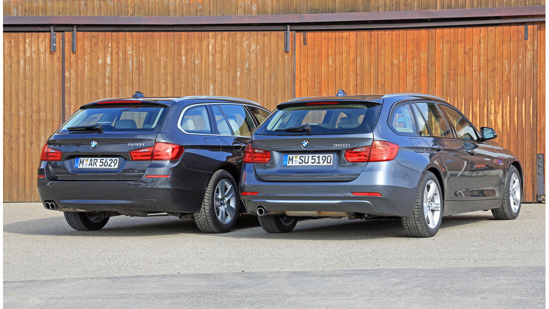BMW 320i Touring, BMW 520i Touring, Heckansicht