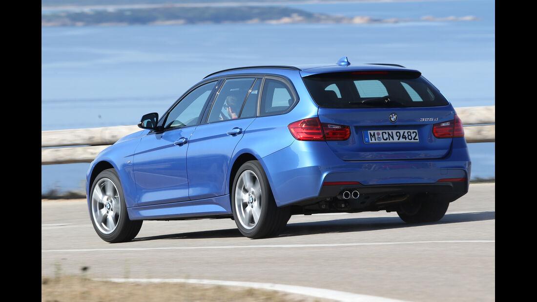 BMW 325d Touring, Heckansicht