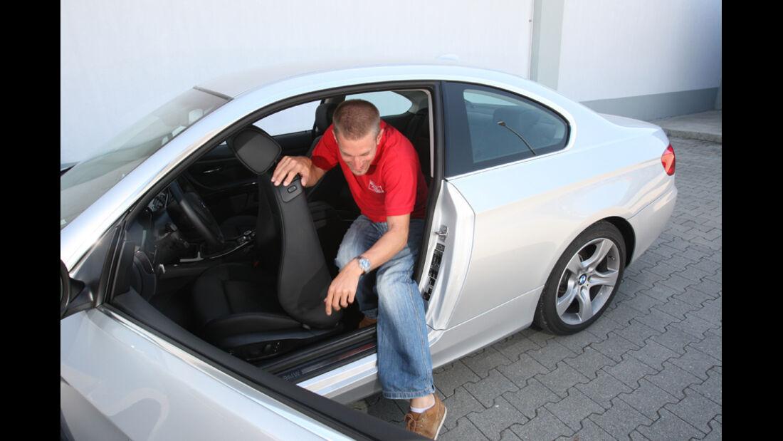 BMW 325i Coupe, Ausstieg Fond