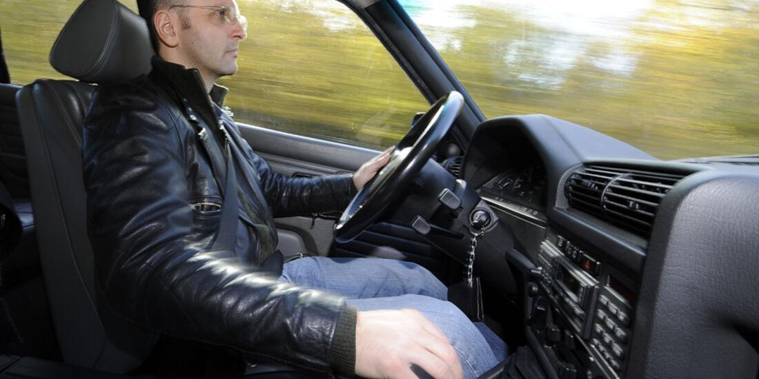BMW 325i Touring, Cockpit, Fahrer, Detail