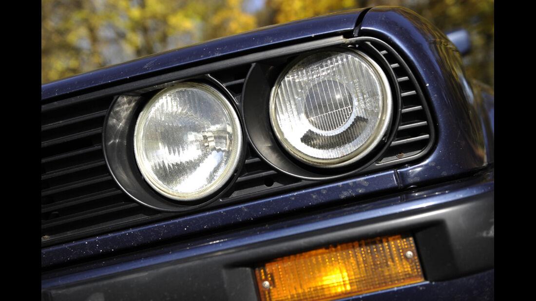 BMW 325i Touring, Frontlichter, Detail