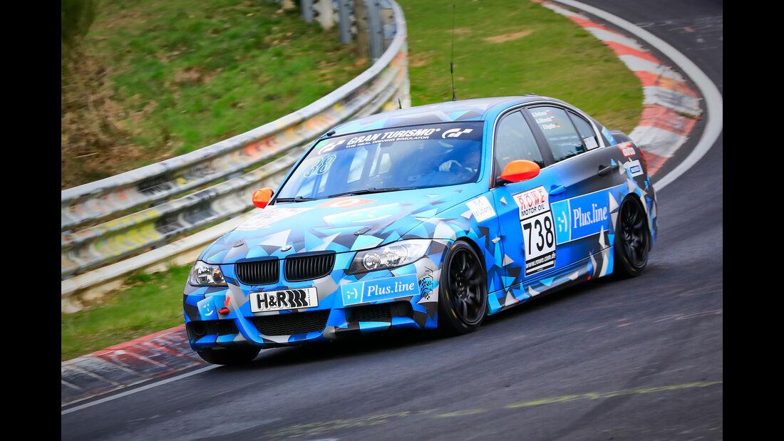 BMW 325i e90 - Startnummer #738 - rent2drive-Familia Racing - V4 - VLN 2019 - Langstreckenmeisterschaft - Nürburgring - Nordschleife