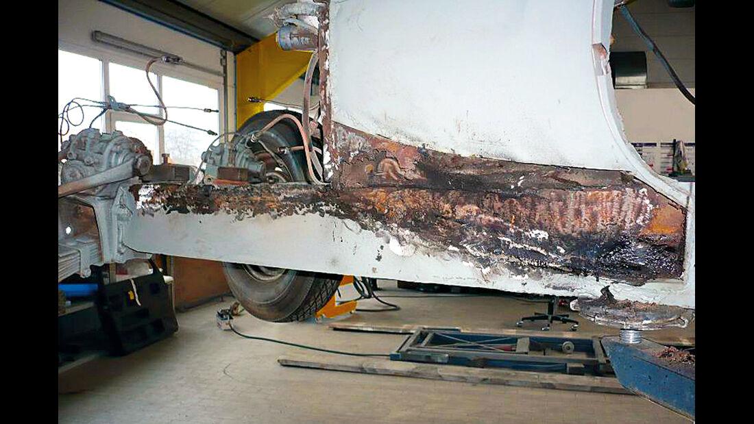 BMW 328, Blech, Rost