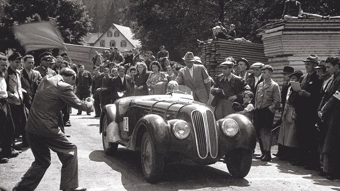 BMW 328 - Hermann Holbein - Baiersbronn-Obertal - Ruhestein - Bergrennen 1946