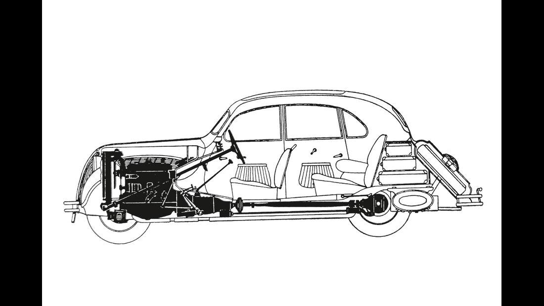 BMW 328, Innen, Grafik