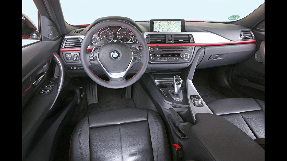 BMW 328i, Cockpit, Lenkrad