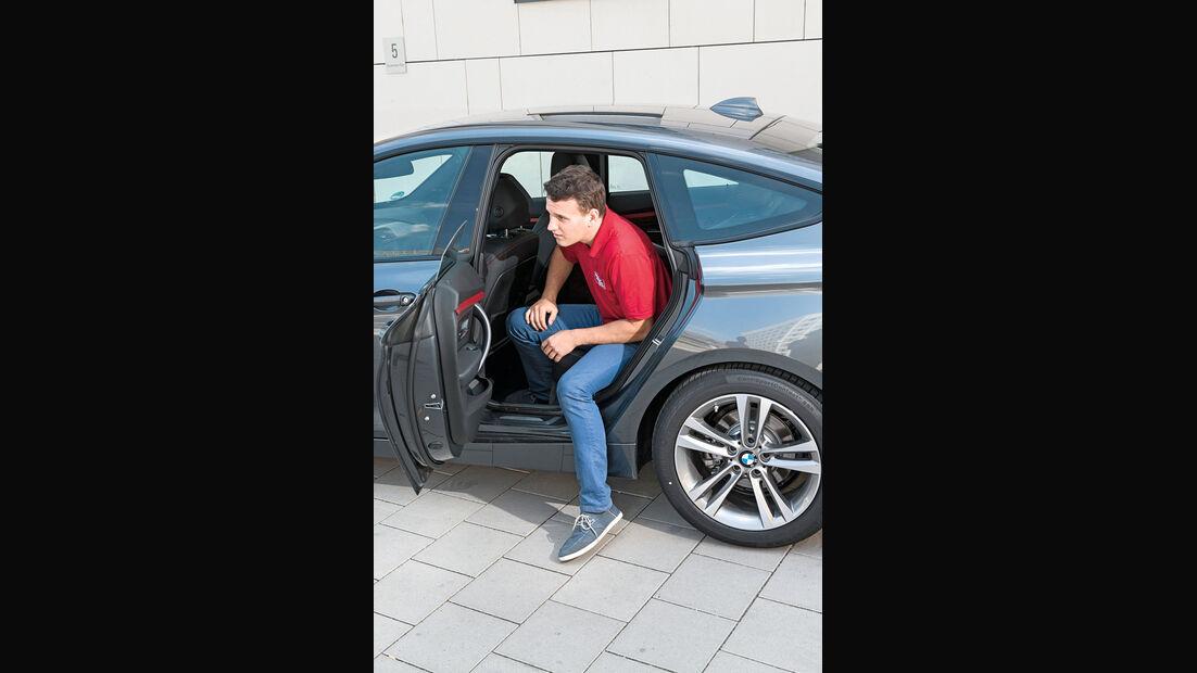 BMW 328i Gran Turismo, Fondsitz, Aussteigen