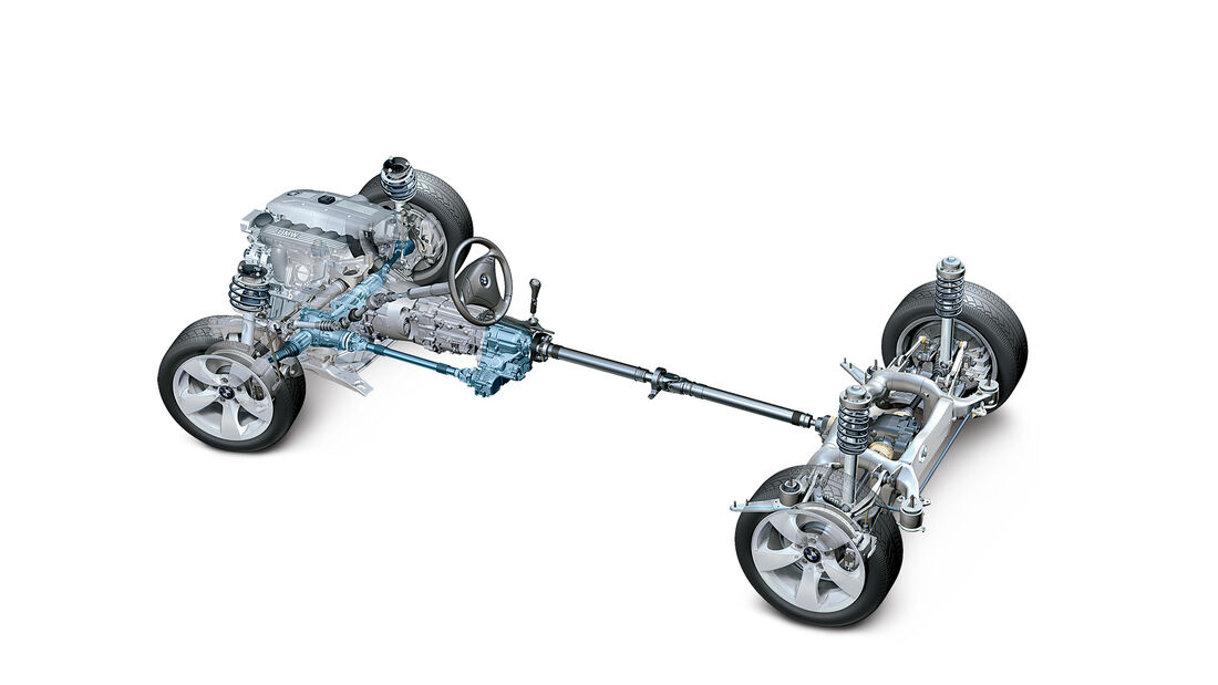 BMW 328i x-Drive, Antrieb, Grafik