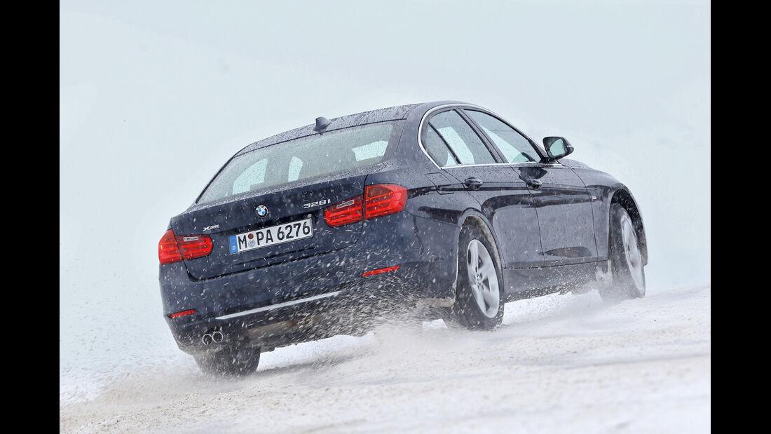 BMW 328i x-Drive, Heckansicht