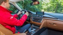 BMW 330d, Cockpit, Fahrersicht