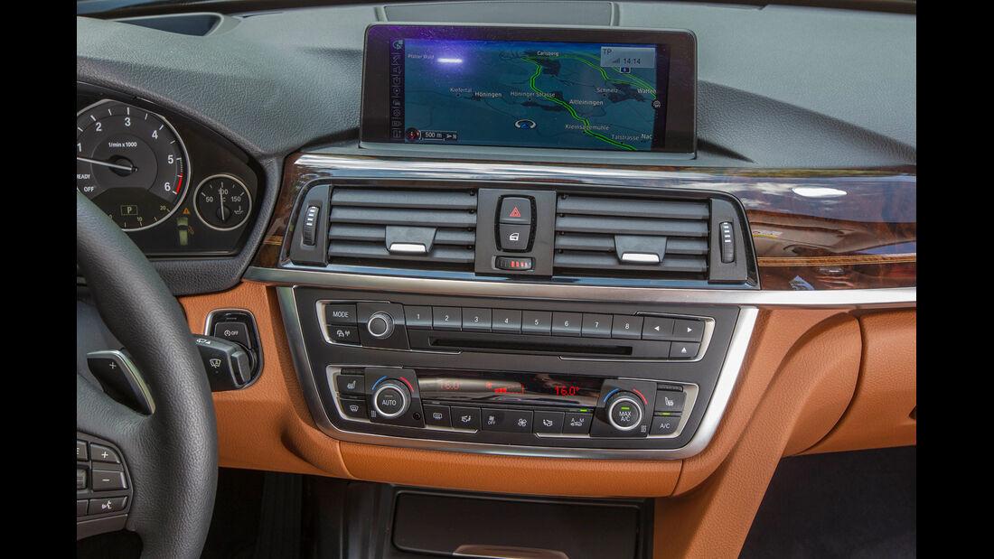 BMW 330d, Mittelkonsole