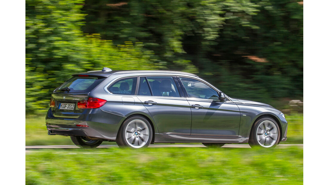 BMW 330d, Seitenansicht