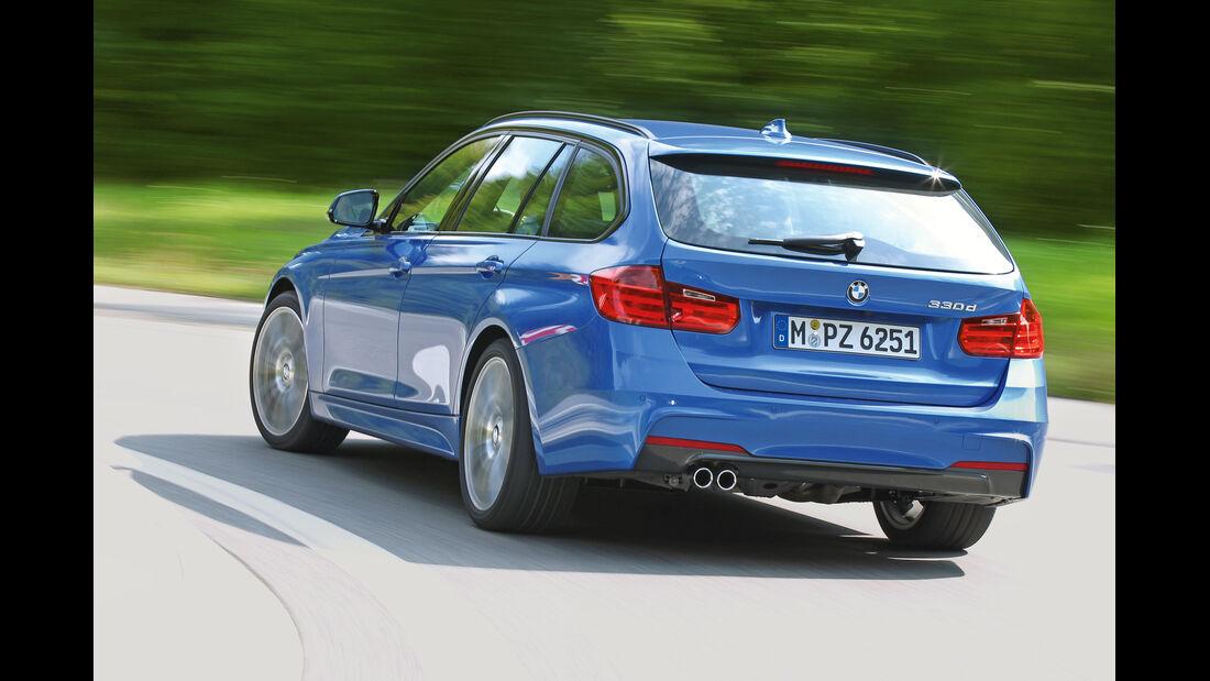 BMW 330d Touring, Heckansicht
