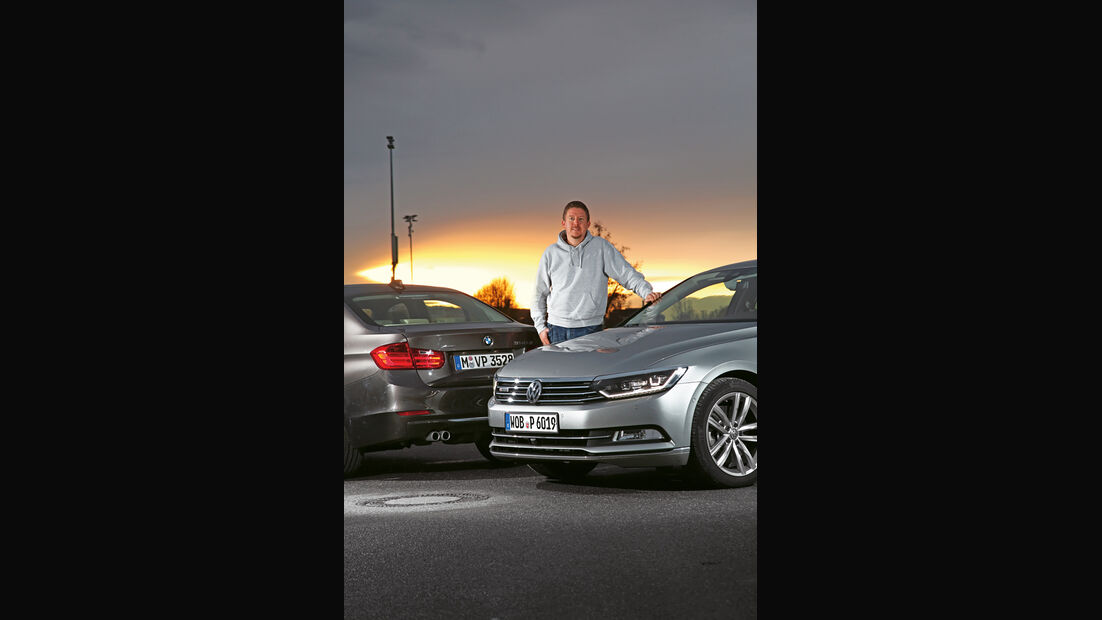 BMW 330d xDrive, VW Passat 2.0 TDI 4Motion, Jens Dralle