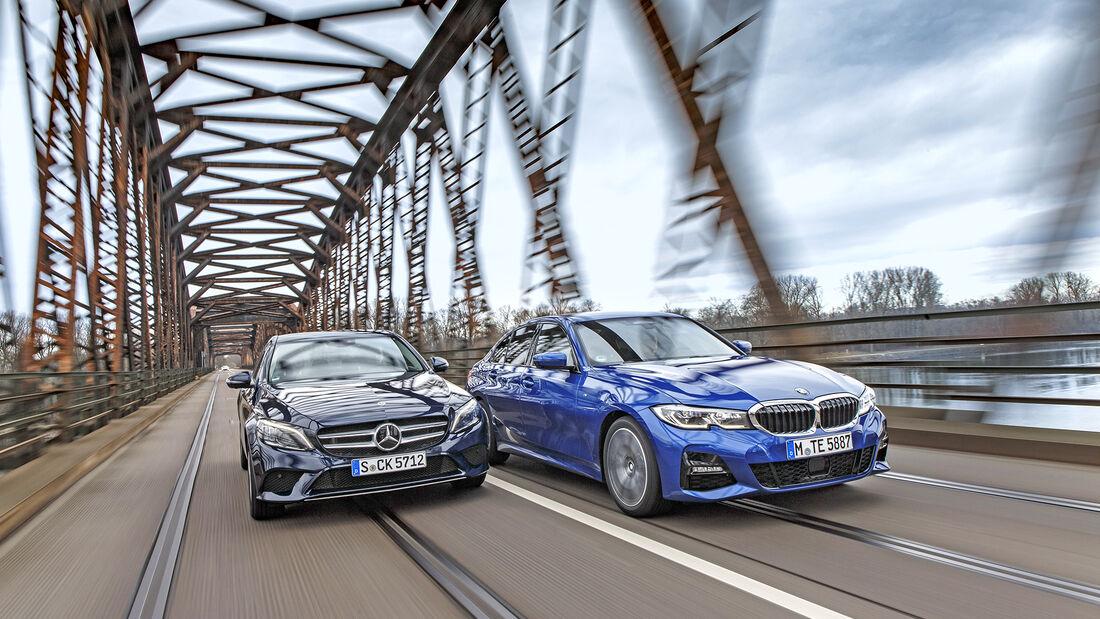 BMW 330i, Mercedes C300, Vergleichstest, ams0619
