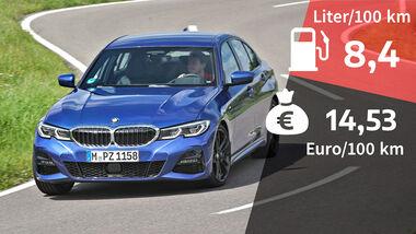 BMW 330i xDrive M Sport, Kosten- und Realverbrauch