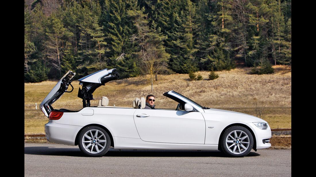 BMW 335i Cabriolet, Verdeck öffnet
