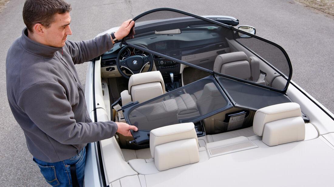 BMW 335i Cabriolet, Windschott