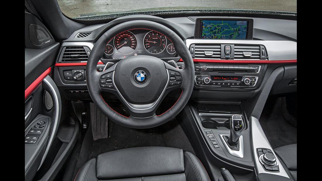 BMW 335i GT, Cockpit, Lenkrad