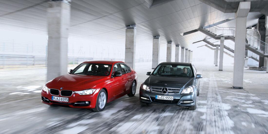 BMW 335i, Mercedes C 350
