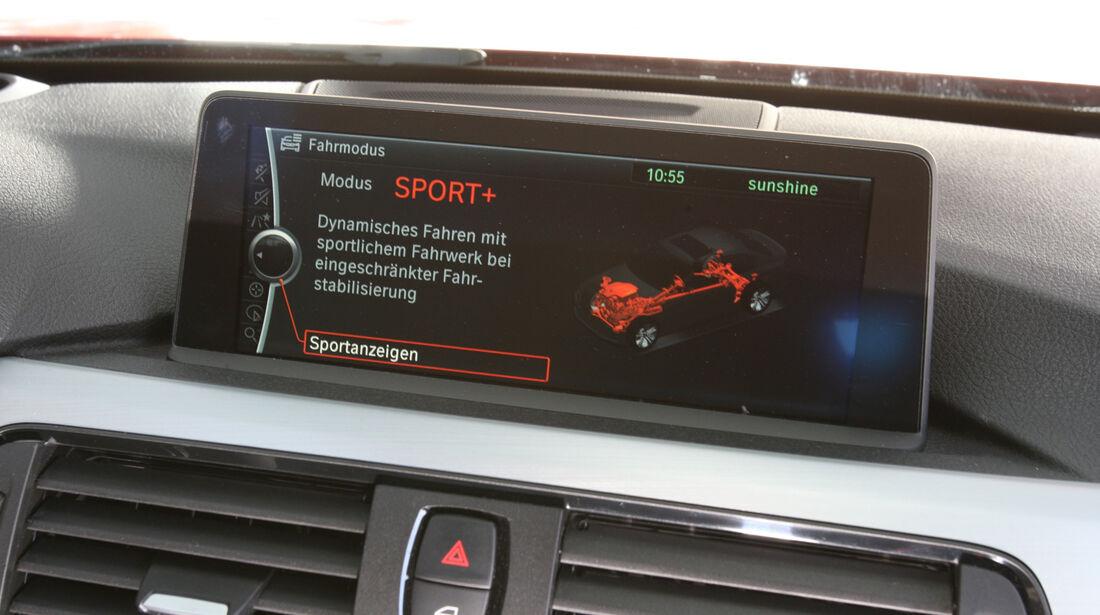BMW 335i Sport Line, Bildschirm, Fahreinstellung